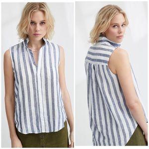 Frank & Eileen • fiona linen striped top